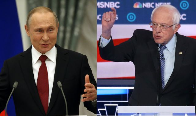 Bernie Sanders tells Vladimir Putin to 'stay out' of election after report of Russian help