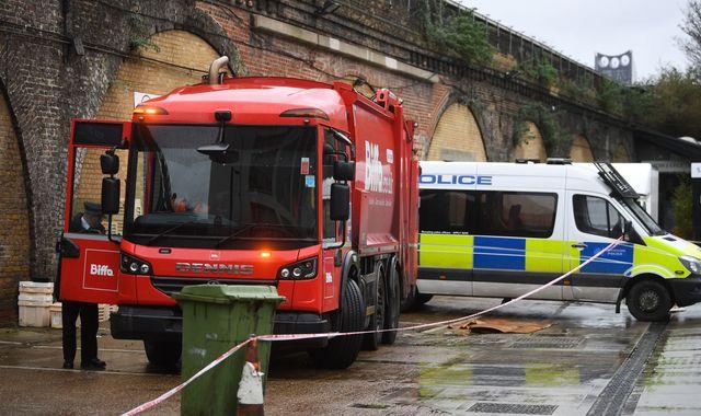 Body found in bin lorry in south London