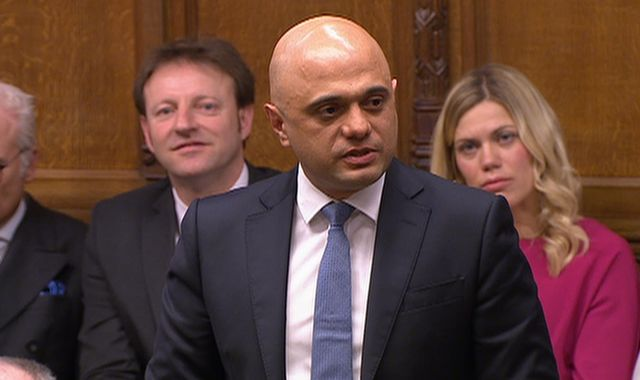 Sajid Javid explains shock resignation as chancellor as Boris Johnson watches on