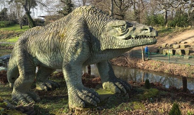 Historic life-size dinosaur sculptures in Crystal Palace added to at-risk register