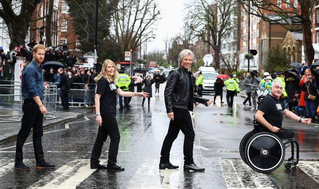 Prince Harry and Jon Bon Jovi record Invictus Games charity single at Abbey Road