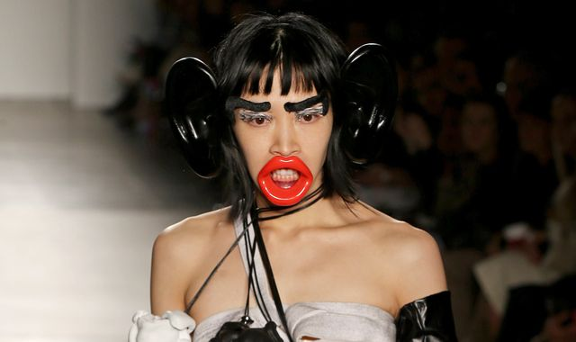 New York fashion college apologises for 'racist' accessories at runway show