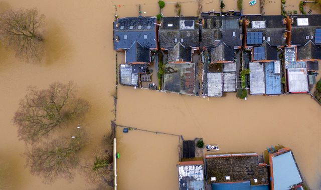 UK weather: Corbyn says PM 'does not care' about flood-hit areas