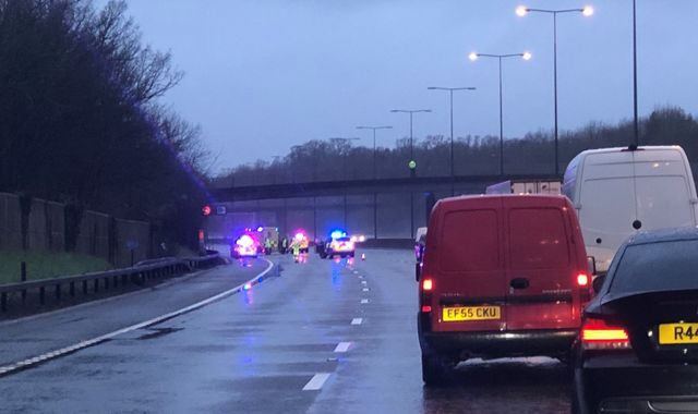 Woman's body found on M25 after suspected hit and run