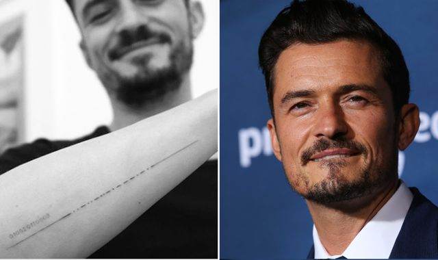 'Finally dot it right' - Orlando Bloom fixes Morse code tattoo blunder