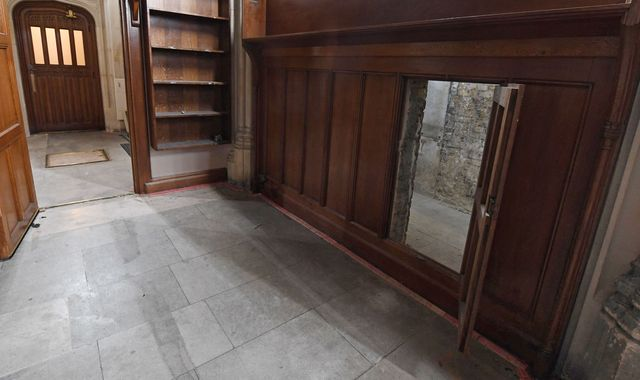 Secret 17th century doorway discovered in parliament during restoration works