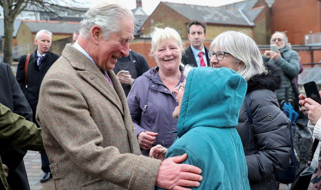 Prince Charles visits flood victims in South Wales
