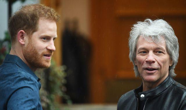 Prince Harry and Jon Bon Jovi record Invictus Games charity single