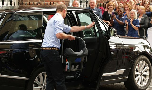 Prince William 'practised using seat with doll' before putting newborn George in car