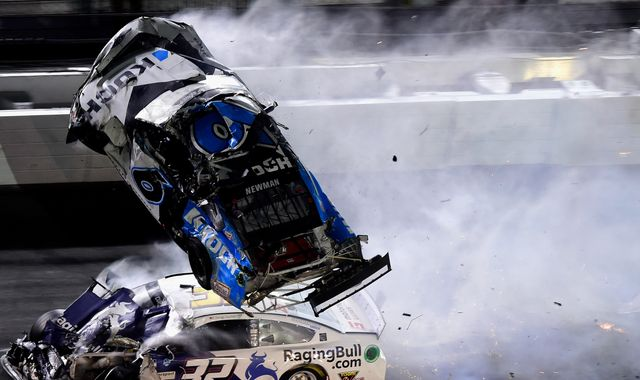 NASCAR fans watch in horror as Ryan Newman flips in 190mph Daytona 500 crash