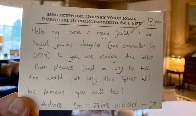 Sajid Javid: Former chancellor reveals daughter left advice for a future PM on hidden note