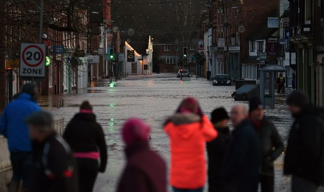 UK weather: Man dies as storm-hit areas are warned flooding could last for days