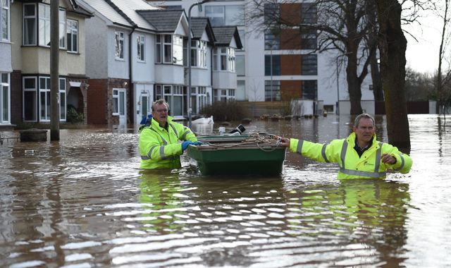 UK weather: 'Danger to life' warnings as Storm Dennis swells rivers to 'exceptional levels'