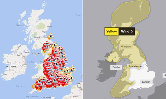 In the wake of Storm Dennis: The weather warnings in place in your area