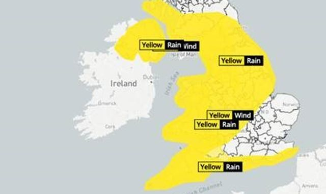 Storm Jorge: Winds of up to 70mph  and rain to hit this weekend