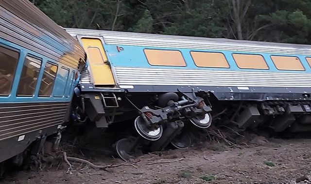 Two killed and several injured after train derails near Melbourne