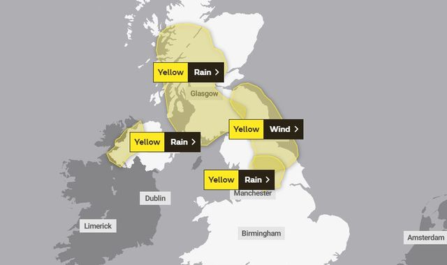 UK weather: 'Significant flooding' risk as heavy rain moves north