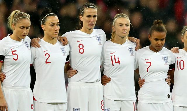 England women's football team to fly in premium economy to USA for SheBelieves Cup defence