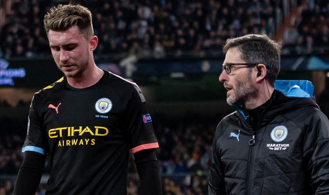 Aymeric Laporte: Manchester City defender ruled out for three to four weeks with hamstring injury