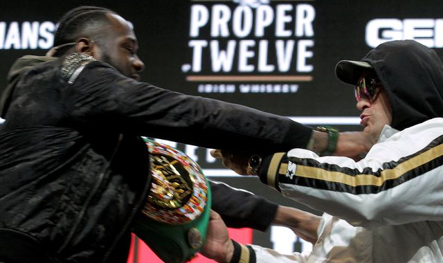 Wilder vs Fury 2: Pushing and shoving as tension builds at press conference