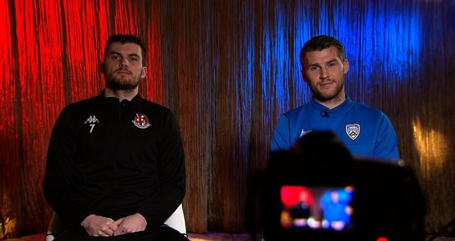 Brothers Stephen and Philip Lowry will be pitted against one another when Coleraine and Crusaders meet in the Northern Ireland League Cup final.