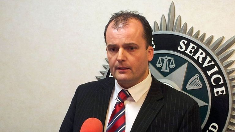 Detective Superintendent Sean Wright who has warned thousands more people could face police action for criminal behaviour linked to the Union flag protests in Northern Ireland, at PSNI headquarters in Belfast today.