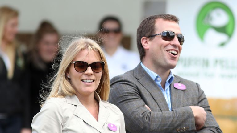 """File photo dated 13/05/17 of Autumn Phillips and Peter Phillips. The Queen's grandson Peter Phillips and wife Autumn have confirmed they have separated, saying it was """"the best course of action for their two children and ongoing friendship""""."""