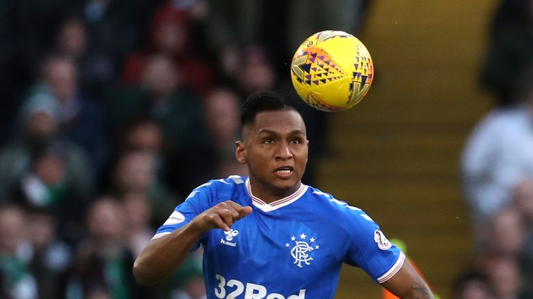 Rangers' Alfredo Morelos during the Ladbrokes Scottish Premiership match at Celtic Park, Glasgow.