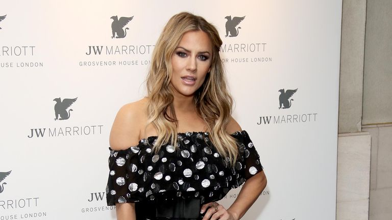 LONDON, ENGLAND - APRIL 30: Caroline Flack attends the JW Marriott Grosvenor House London 90th Anniversary at Grosvenor House on April 30, 2019 in London, England. (Photo by Mike Marsland/WireImage)