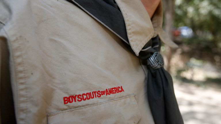 PAYSON, UT - JULY 31: A Boy Scout attends camp Maple Dell on July 31, 2015 outside Payson, Utah. The Mormon Church is considering pulling out of its 102 year old relationship with the Boy Scouts after the Boy Scouts changed it's policy on allowing gay leaders in the organization. Over 99% of the Boy Scout troops in Utah are sponsored by the Mormon Church. (Photo by George Frey/Getty Images)