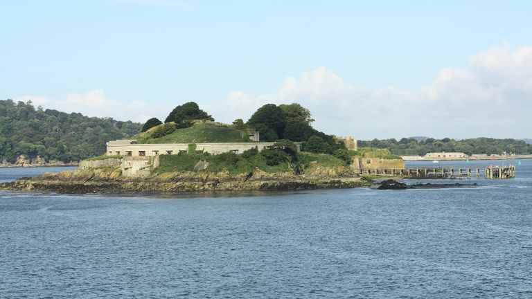 This photo was taken in Plymouth Sound, England