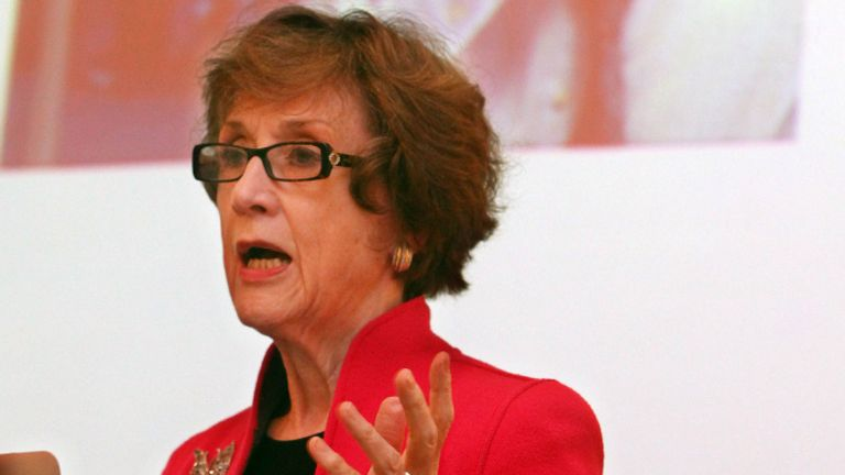 EDITORIAL USE ONLY Dame Carol Black makes a speech during the launch of the inaugural Cigna Foundation Global Healthy Workplace Summit and Awards at Waldorf Hilton Hotel in London.