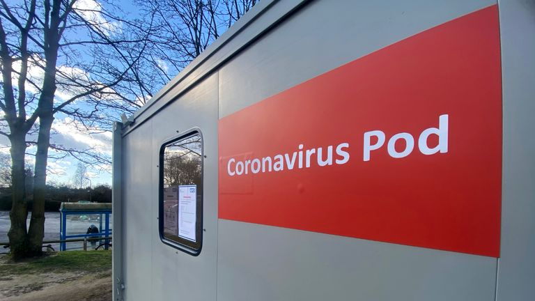 OXFORD, ENGLAND - FEBRUARY 27: A Coronavirus Pod at The John Radcliffe Hospital on February 27, 2020 in Oxford, United Kingdom. (Photo by Finnbarr Webster/Getty Images)