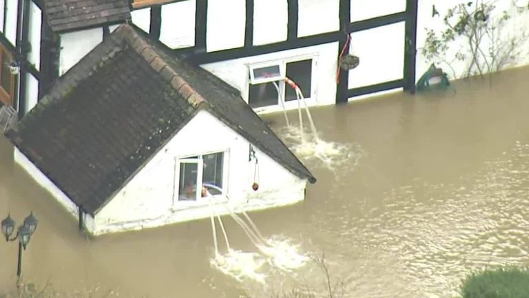 An emergency evacuation is taking place in Ironbridge, Shropshire