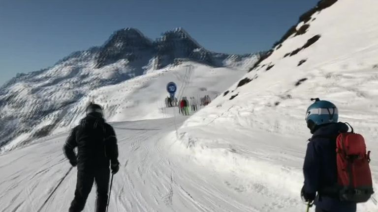 A video has been released to show the dangers of skiing off-piste after a British dad saved his son from a small avalanche.