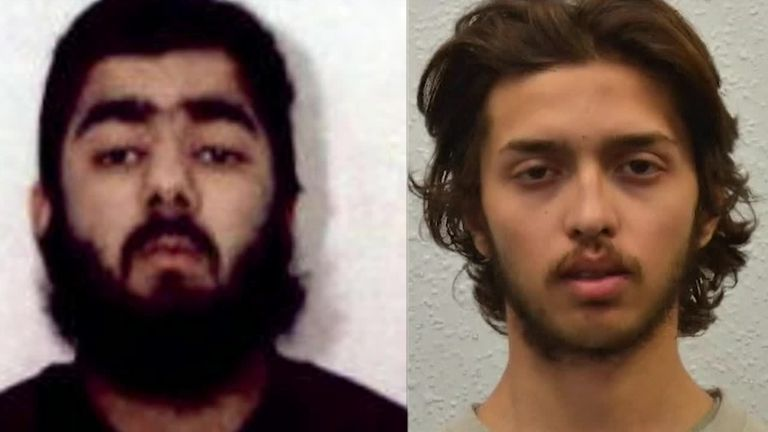 London Bridge attacker Usman Khan and Streatham terrorist Sudesh Amman