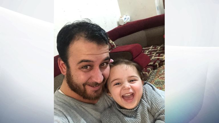 Abdullah al-Mohammad and three-year-old daughter Salwa