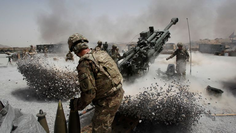 US soldiers fighting in Kandahar province, southern Afghanistan, in June 2011