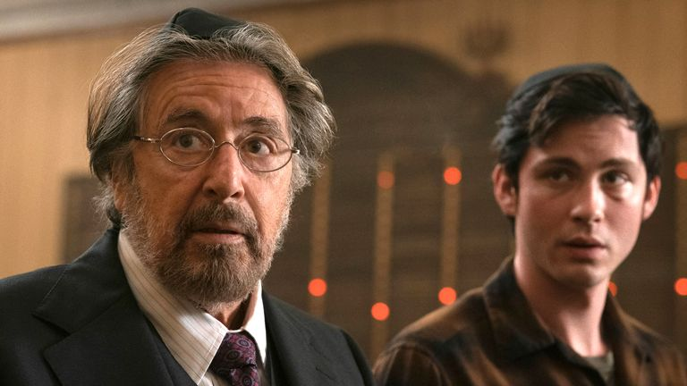 Al Pacino and Logan Lerman star in Hunters. Pic: Amazon Prime Video