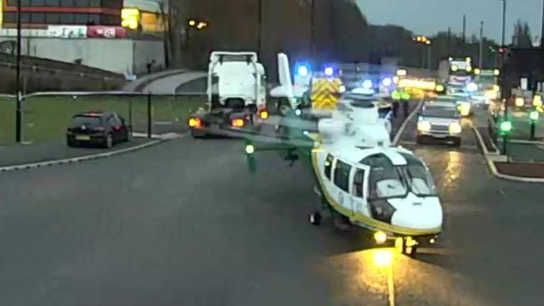 Alisha Webster was airlifted to hospital after the crash last week. Pic: North East Live Traffic