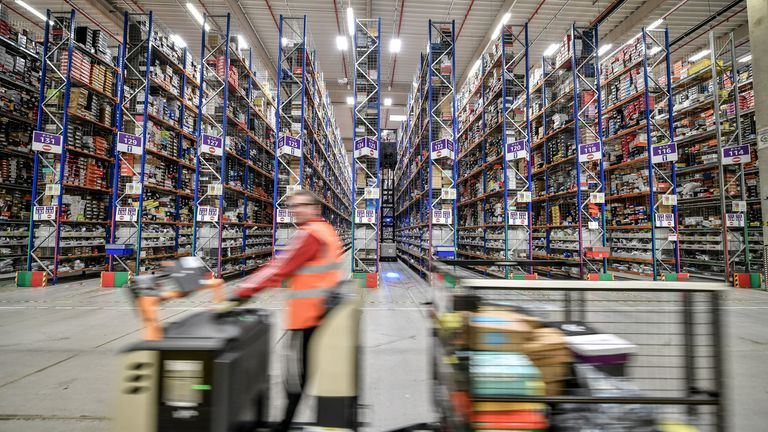 The GMB union has accused Amazon of making conditions 'hellish' for its workforce