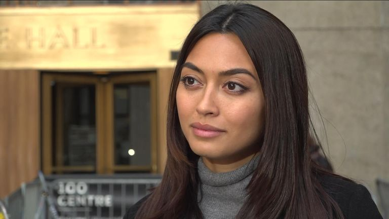 Ambra Battilana Gutierrez has told Sky News she is happy for the victims of Harvey Weinstein that he has been found guilty.