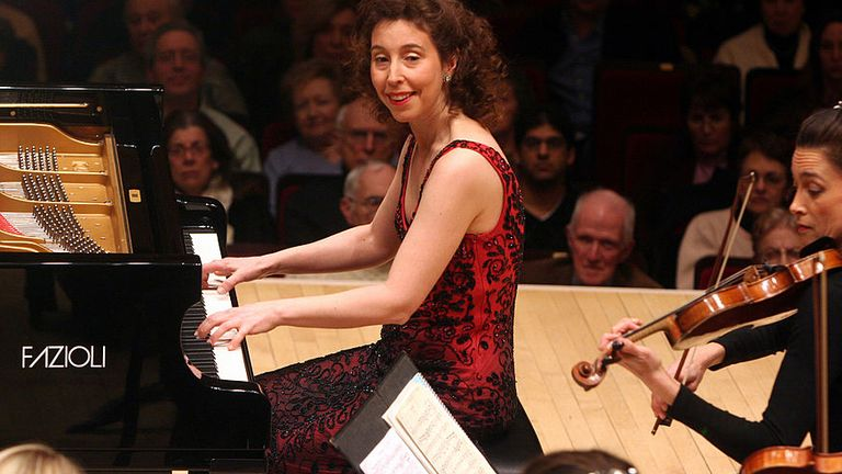 Angela Hewitt performing on a Fazioli piano in 2010