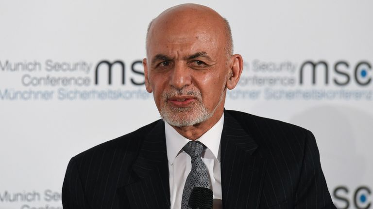 The Taliban has denounced the re-election of Afghan president Ashraf Ghani