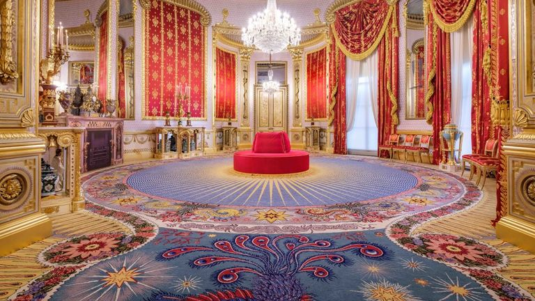 Axminster Carpets completed in 2018 a replica of the original carpet it produced for Brighton's Royal Pavilion 195 years ago. Pic: AC