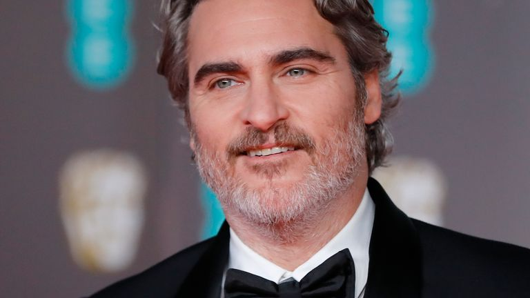Joker star Joaquin Phoenix at the BAFTA Awards