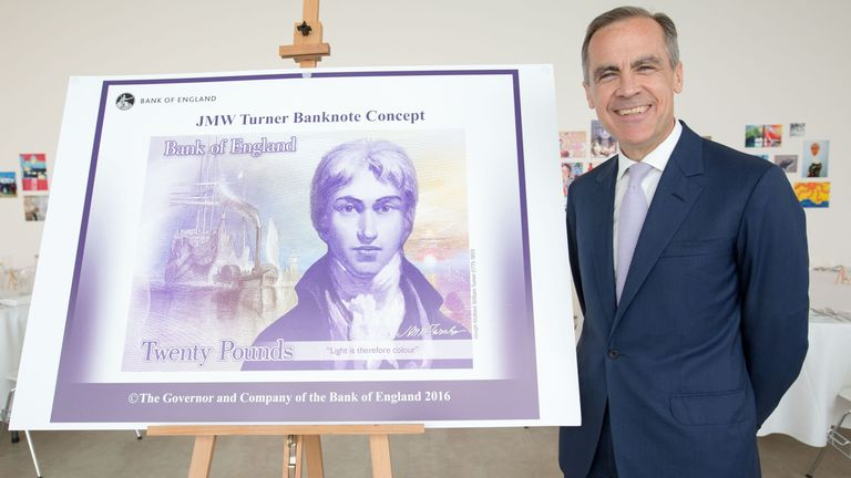 Bank of England Governor Mark Carney says the new £20 is its most secure banknote ever
