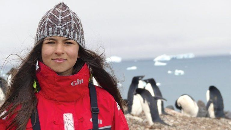 Mya-Rose Craig in Antarctica. Pic: Friends Of The Earth