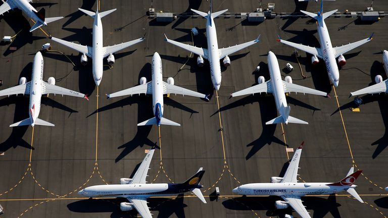 Boeing 737 MAX planes have been grounded since March last year