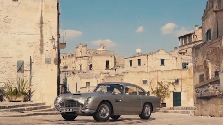 Bond's iconic Aston Martin makes an appearance